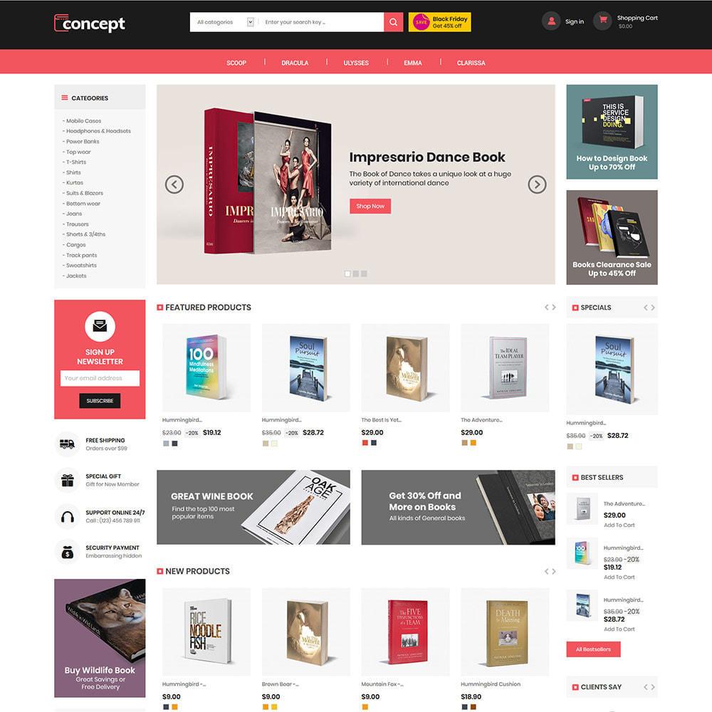 theme - Kultura & Sztuka - Concept Ebook Library - księgarnia internetowa - 3