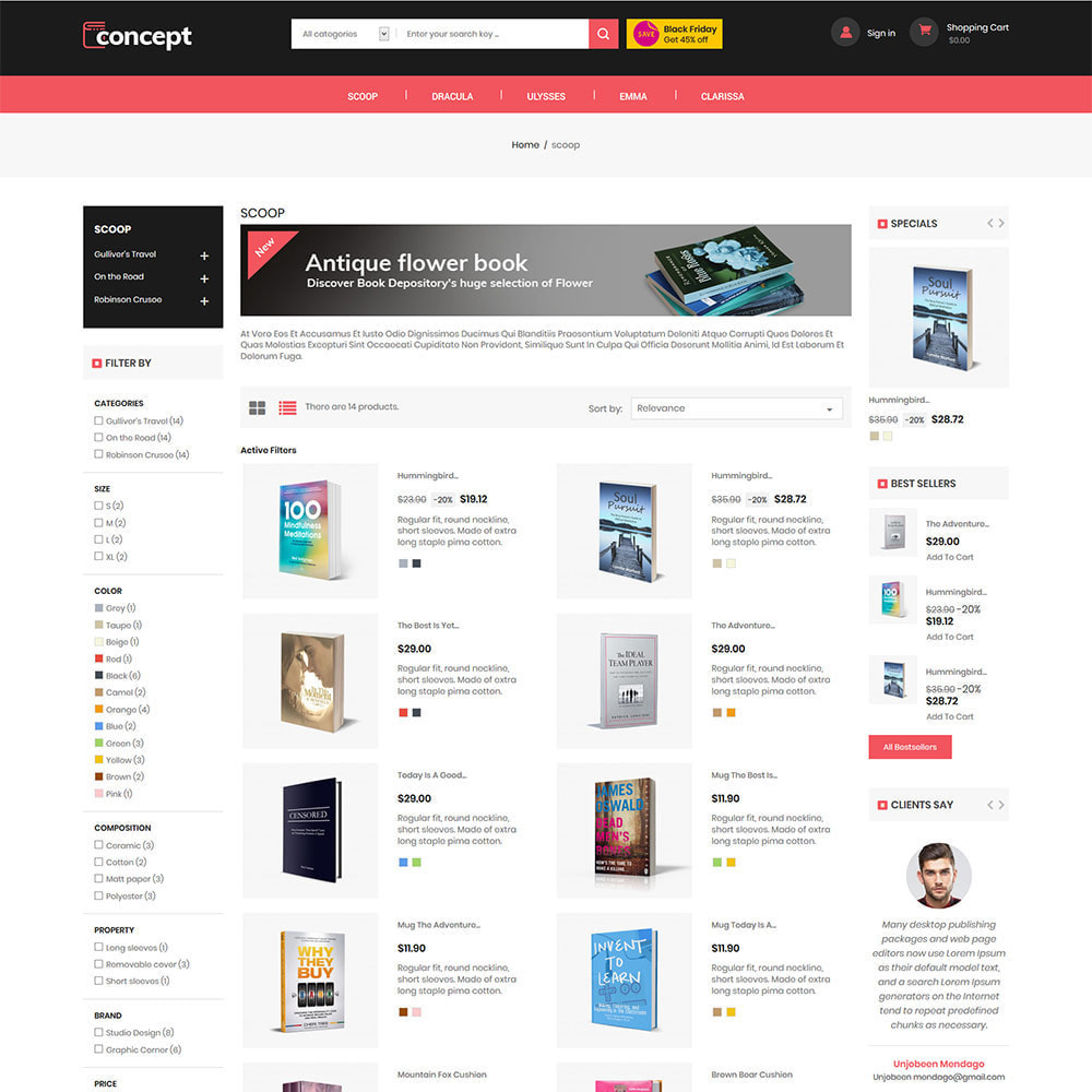theme - Kultura & Sztuka - Concept Ebook Library - księgarnia internetowa - 5