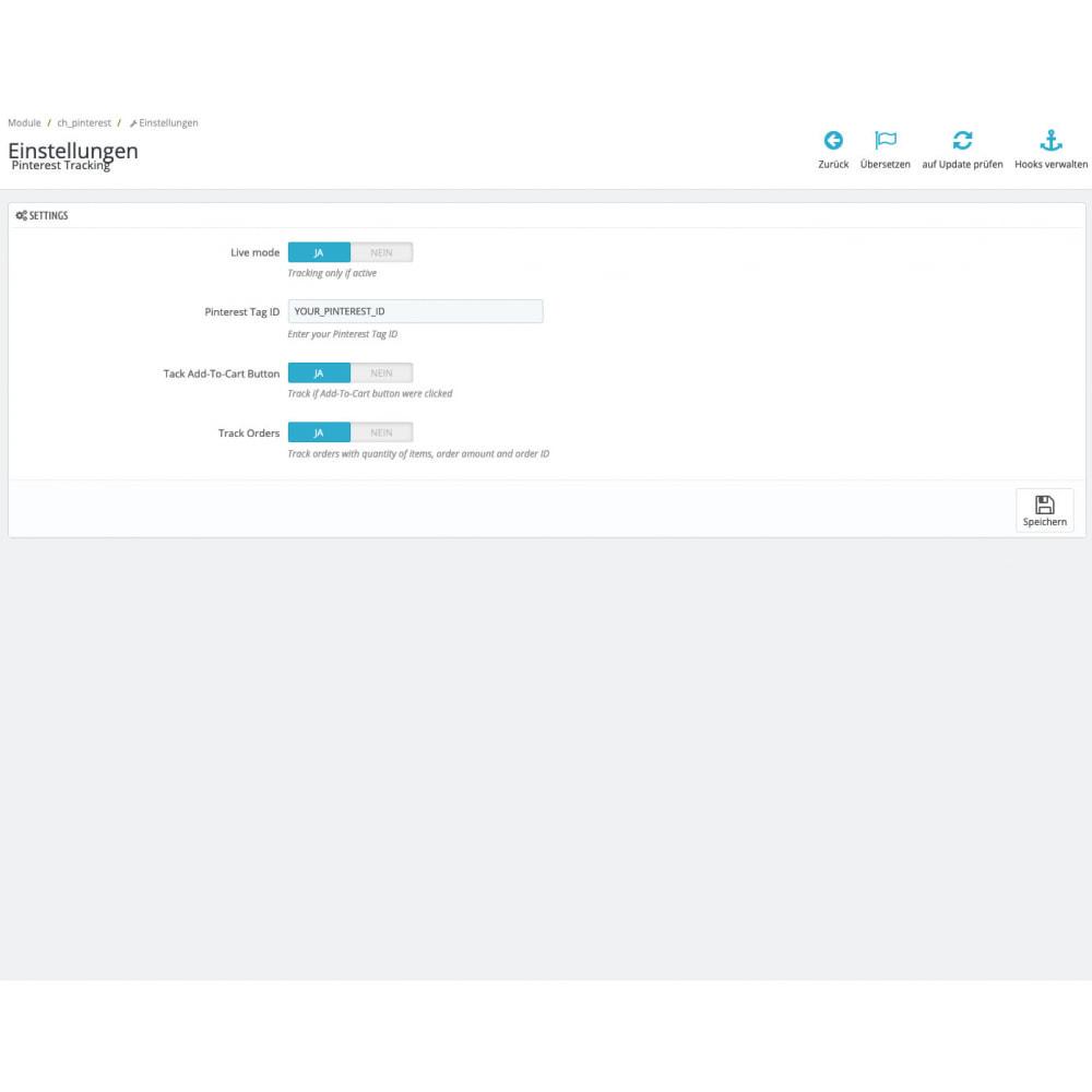 module - Analyses & Statistieken - Pinterest Tag Tracking - 1
