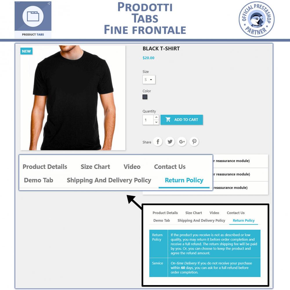 module - Altre informazioni & Product Tab - Tabs prodotto: Aggiungi altre Tabs Personalizzate - 2
