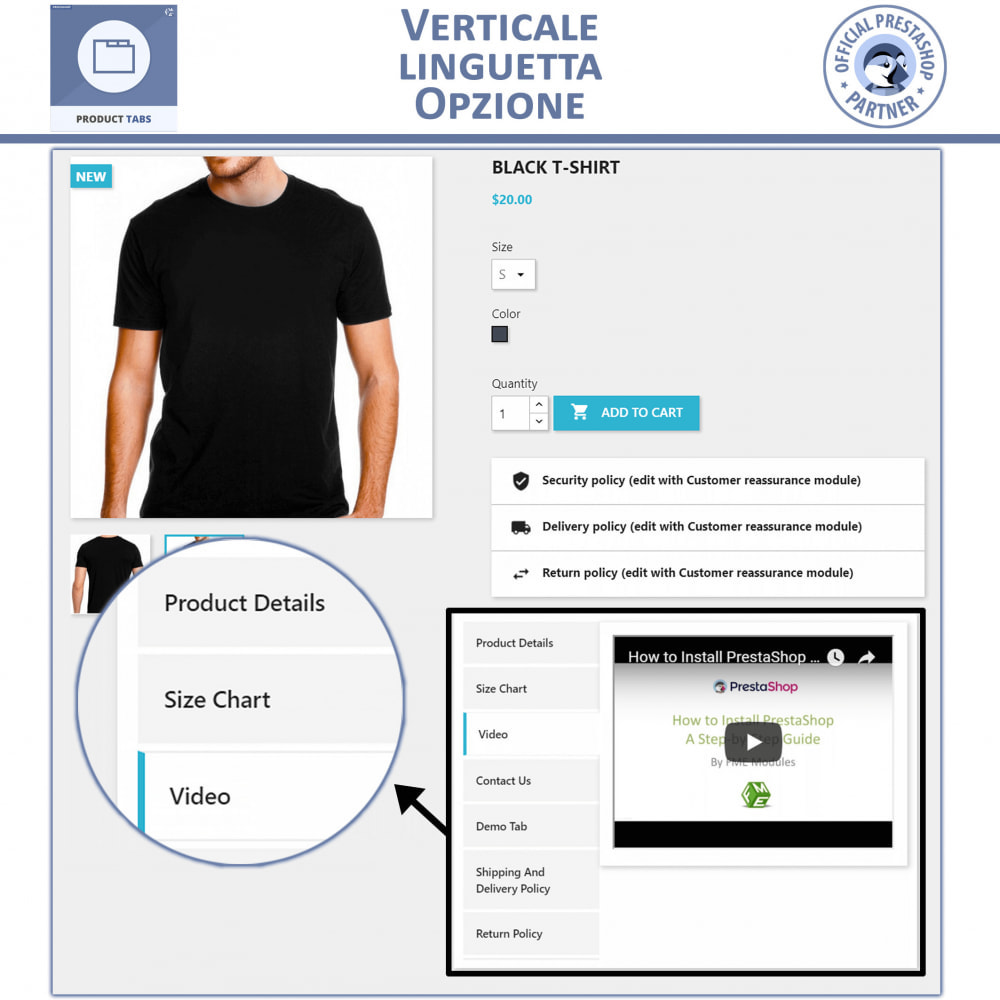 module - Altre informazioni & Product Tab - Tabs prodotto: Aggiungi altre Tabs Personalizzate - 3