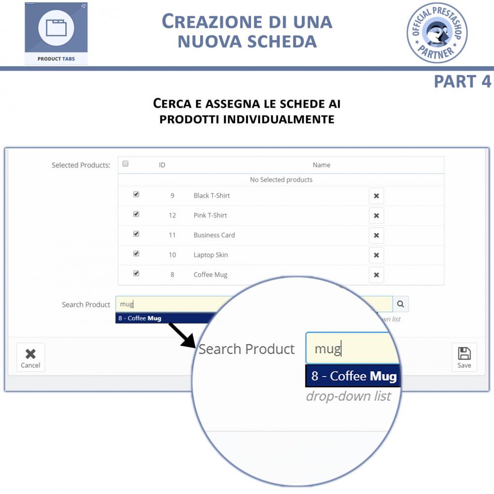 module - Altre informazioni & Product Tab - Tabs prodotto: Aggiungi altre Tabs Personalizzate - 9
