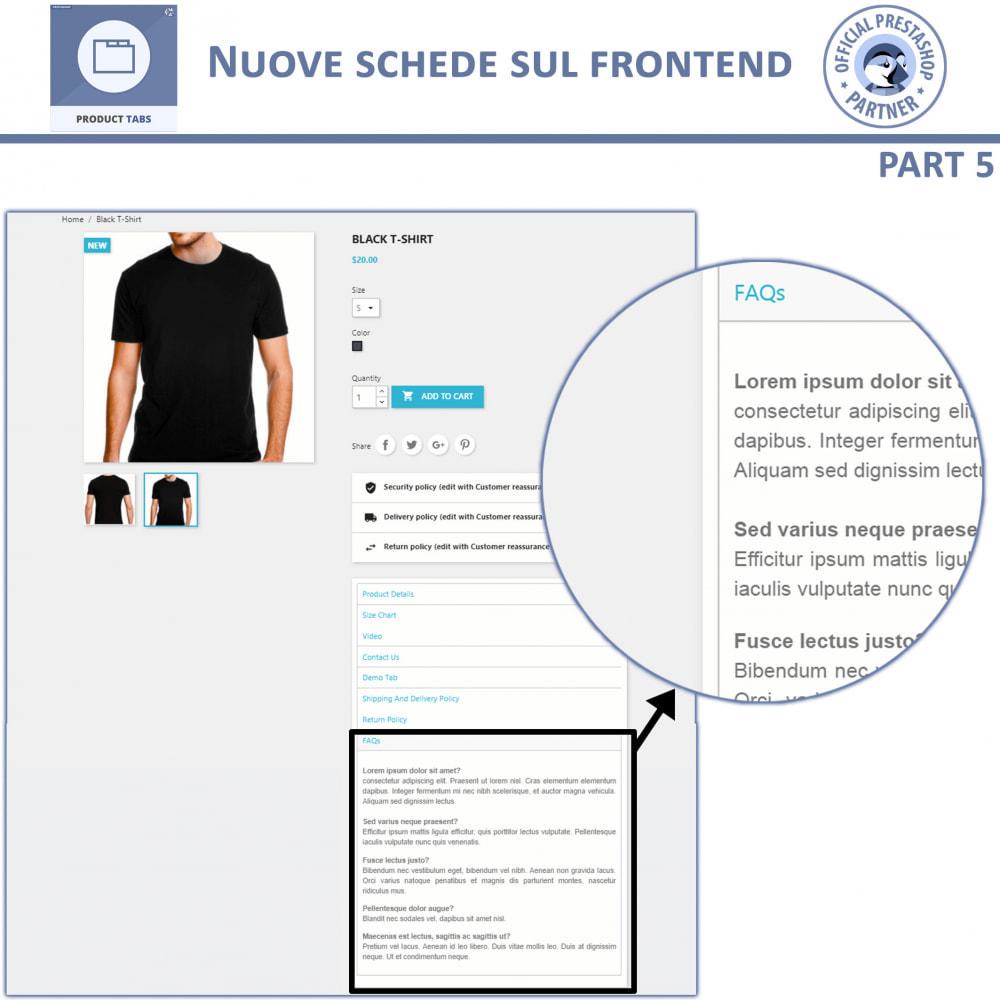 module - Altre informazioni & Product Tab - Tabs prodotto: Aggiungi altre Tabs Personalizzate - 10
