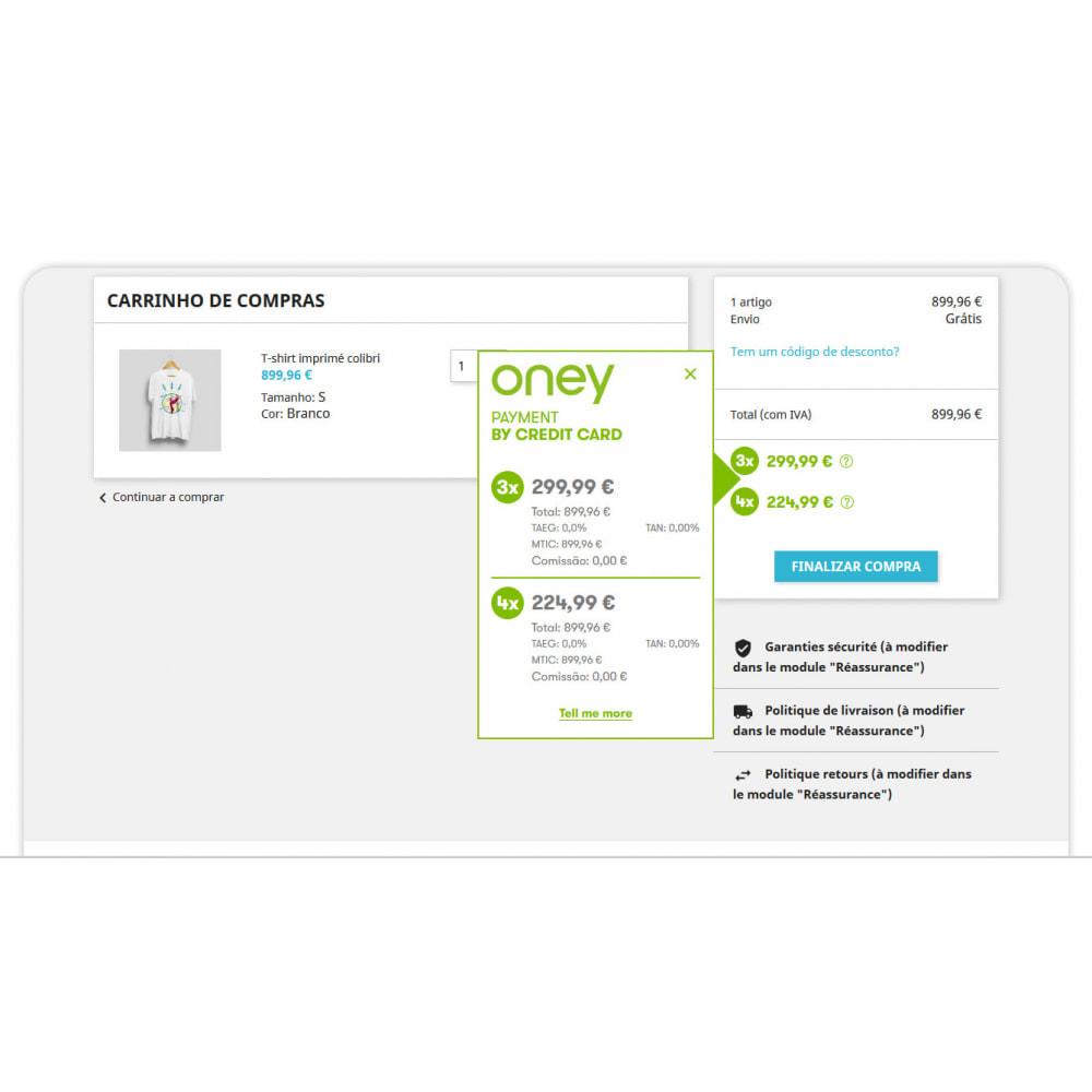 module - Formas de Pagamento Alternativas - 3x 4x Oney – O Pagamento fracionado com a garantia ONEY - 2