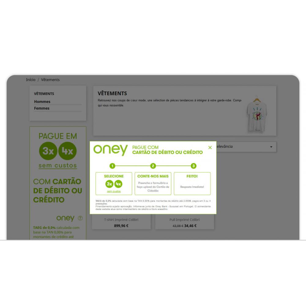 module - Formas de Pagamento Alternativas - 3x 4x Oney – O Pagamento fracionado com a garantia ONEY - 4