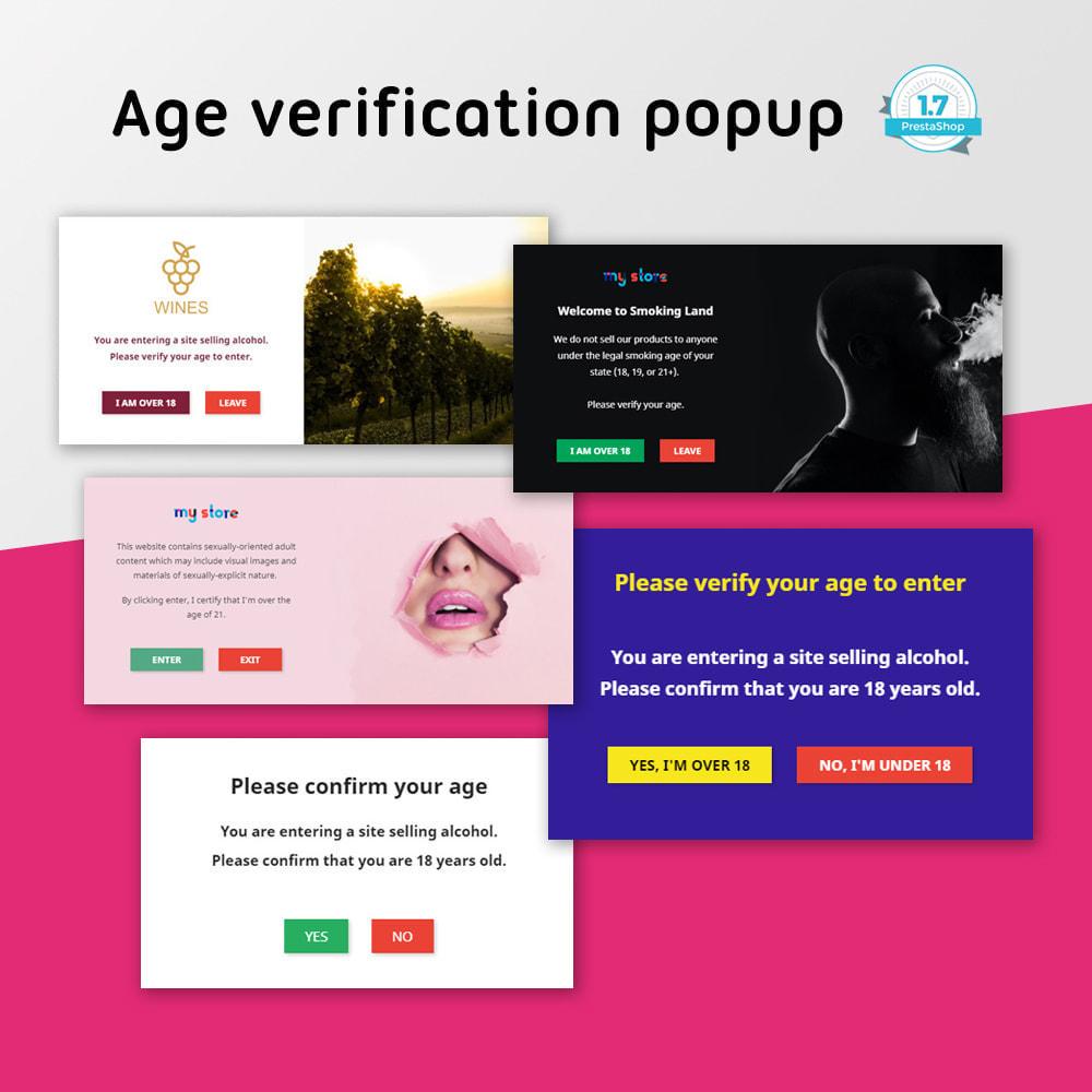 module - Seguridad y Accesos - Age verification popup - 1