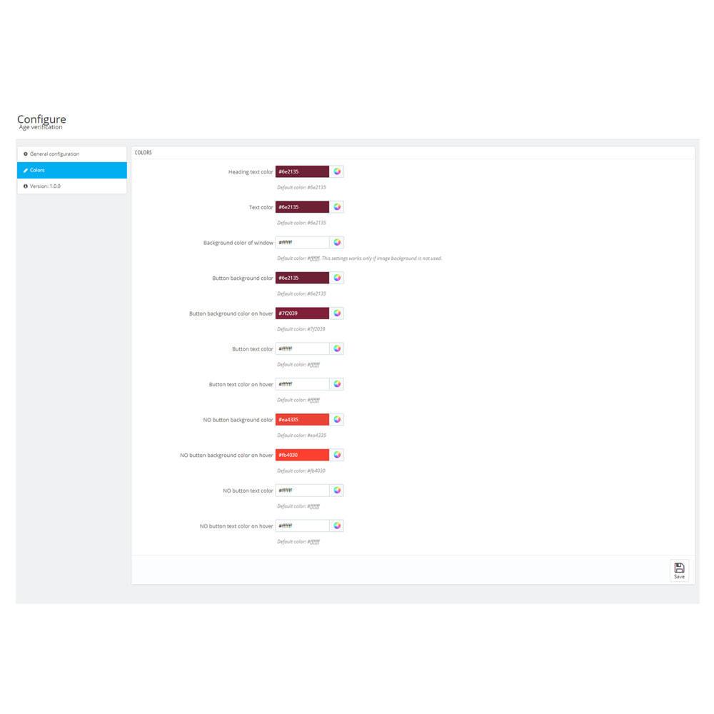 module - Seguridad y Accesos - Age verification popup - 3