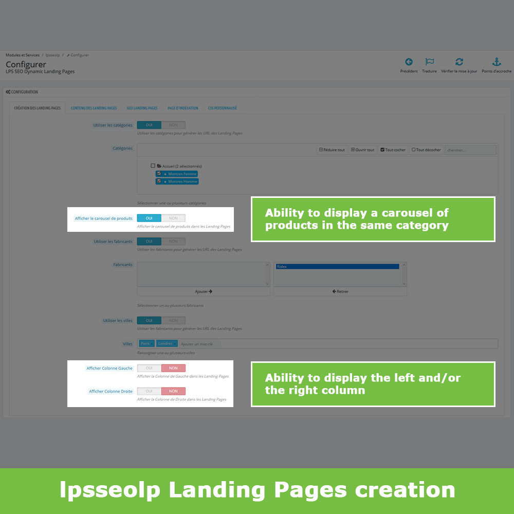 module - SEO (Referenciamento natural) - SEO Dynamic Landing Pages - 4