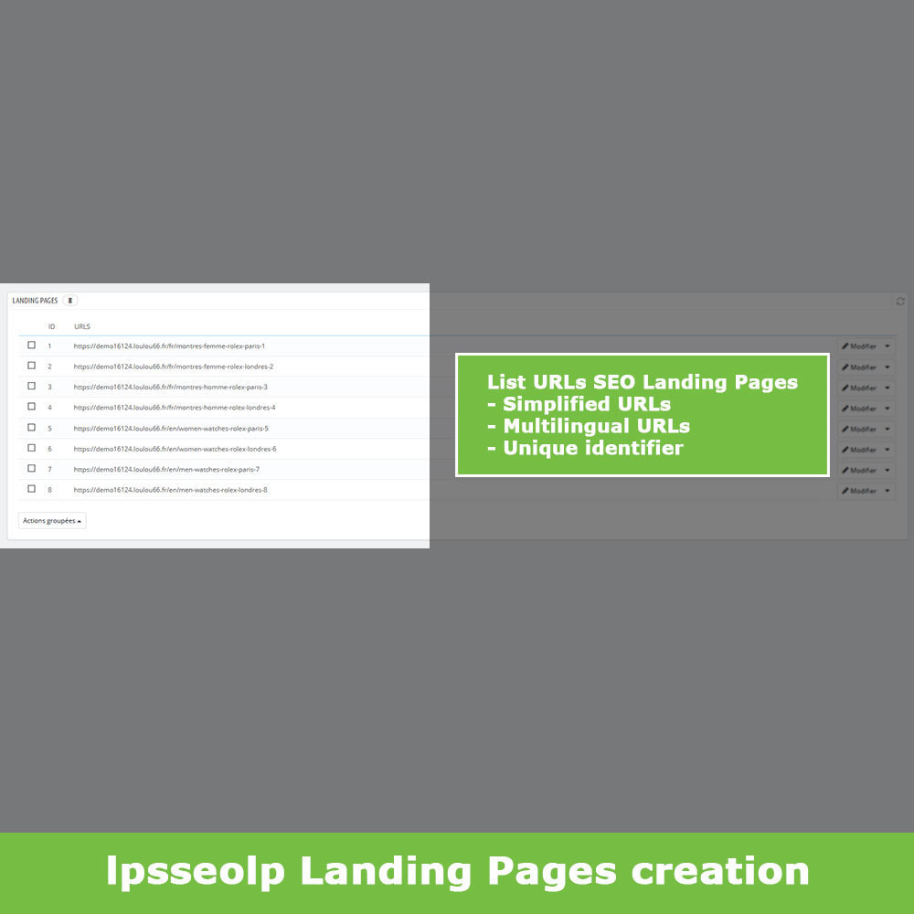 module - SEO (Referenciamento natural) - SEO Dynamic Landing Pages - 5