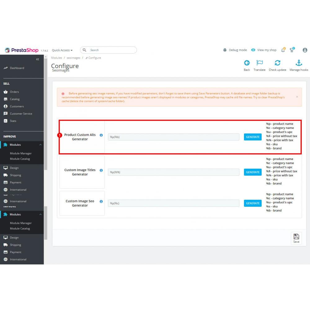 module - SEO - SEO Images Generator - Alt, Title, File Name - 5
