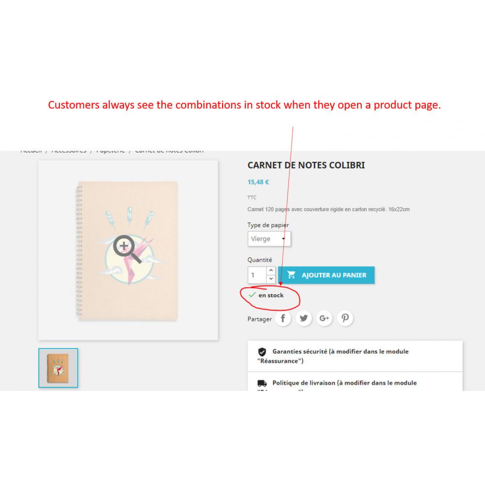 module - Combinazioni & Personalizzazione Prodotti - combination in stock first - 2