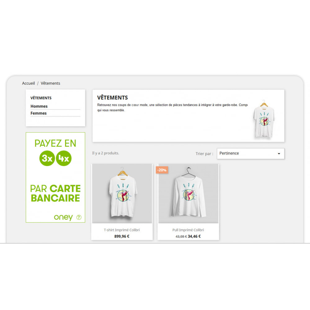 module - Autres moyens de paiement - 3x 4x Oney – Paiement 3 et 4 fois par carte bancaire - 6