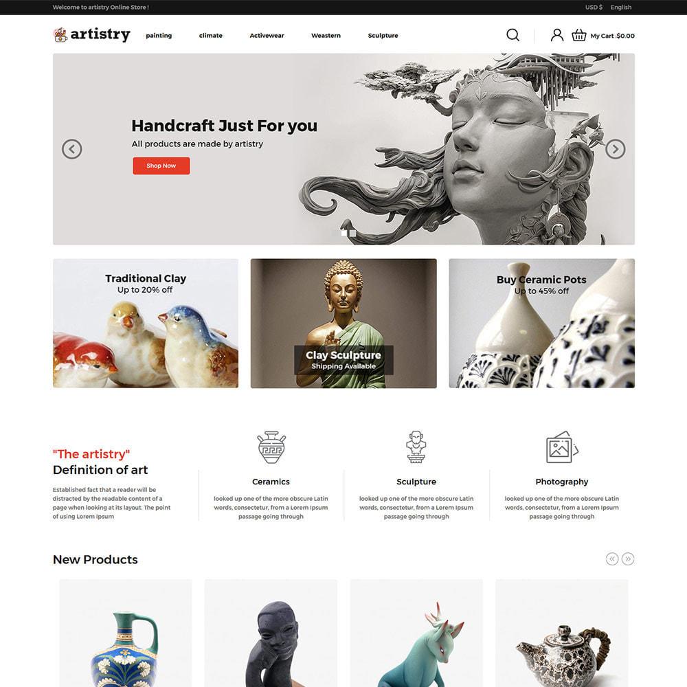 theme - Arte y Cultura - Artista - Tienda de arte Paint Handcraft - 3