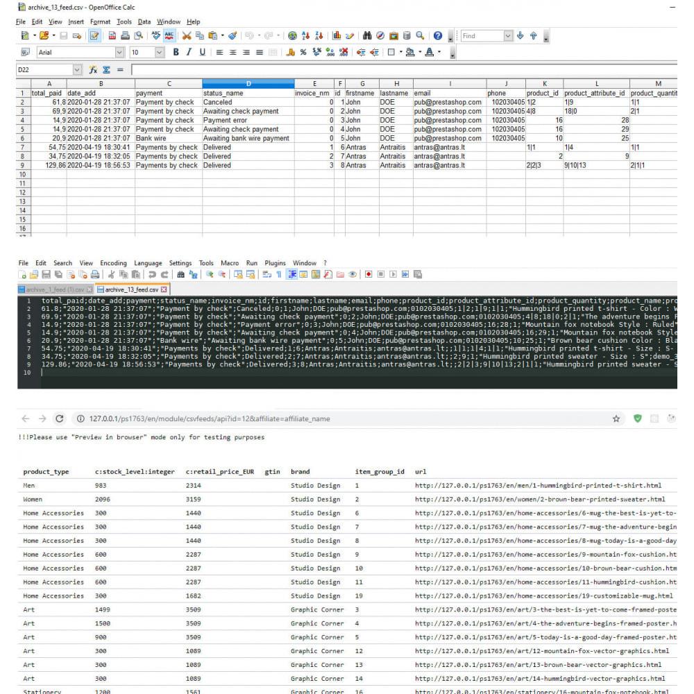 module - Importación y Exportación de datos - CSV feeds Pro - 3