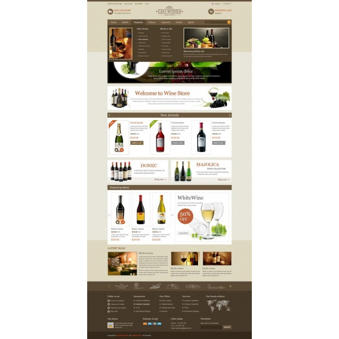 theme - Drink & Wine - Leo Wines - Alcohol, Restaurant & Drinks Store - 1