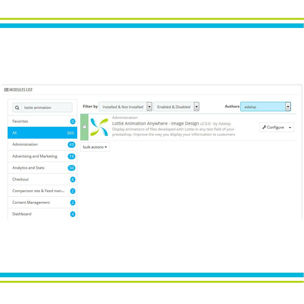 module - Page Customization - Add Lottie Animation Anywhere - Image Design - 2
