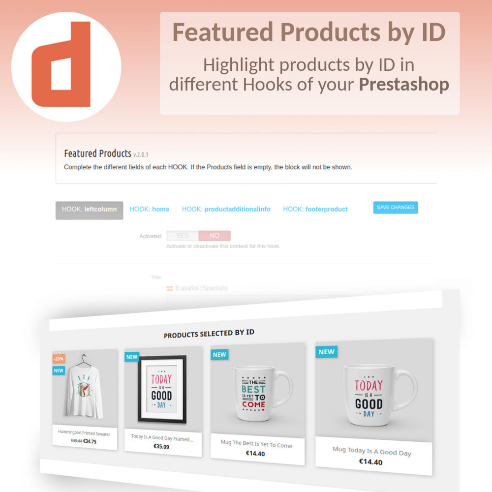 module - Products on Homepage - Featured Products by Ids - 1