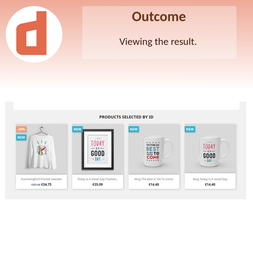 module - Products on Homepage - Featured Products by Ids - 5