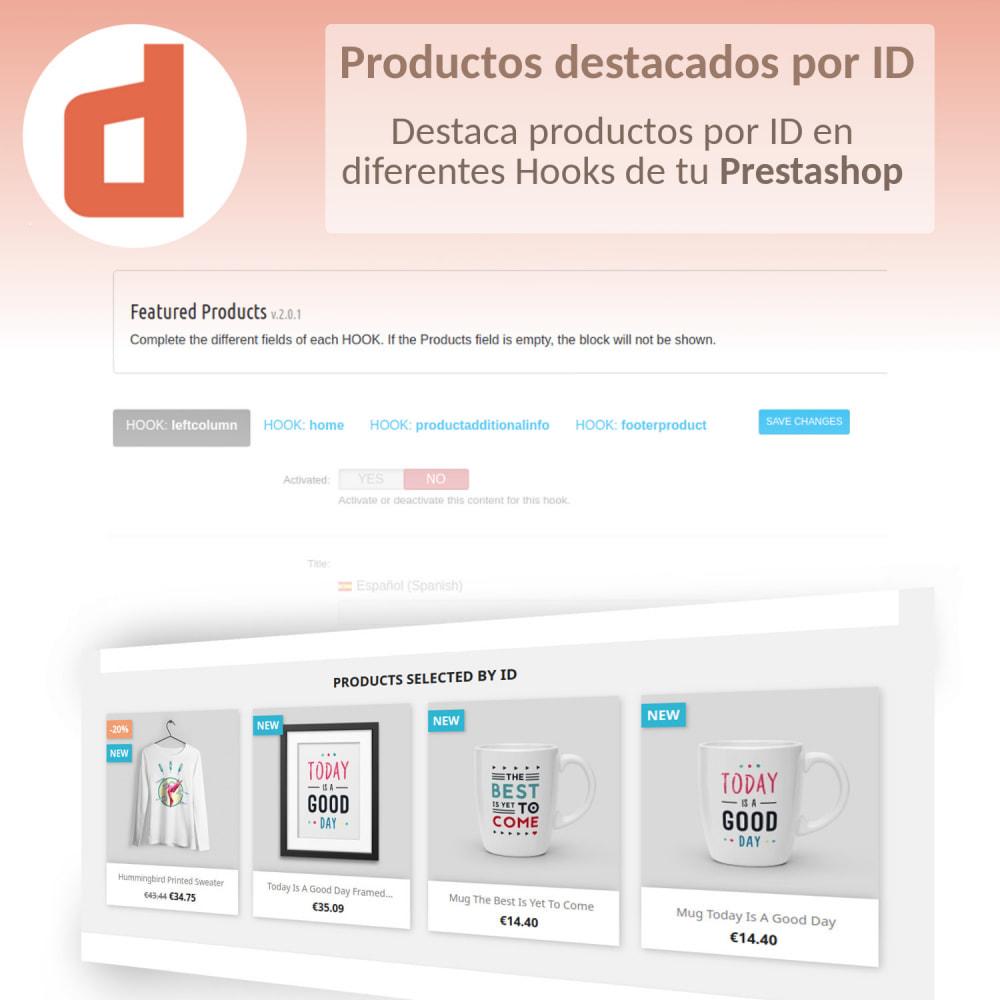 module - Productos en la página de inicio - Productos destacados por Ids - 1