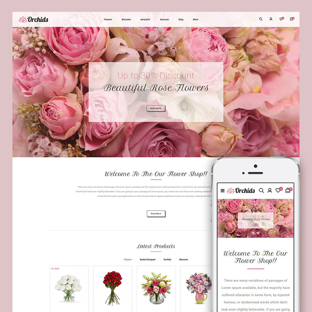 theme - Gifts, Flowers & Celebrations - Orchid - Flower Market - 1
