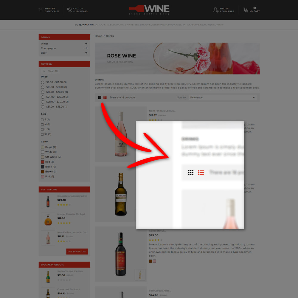 theme - Getränke & Tabak - Winestone - Liquor Shop - 6
