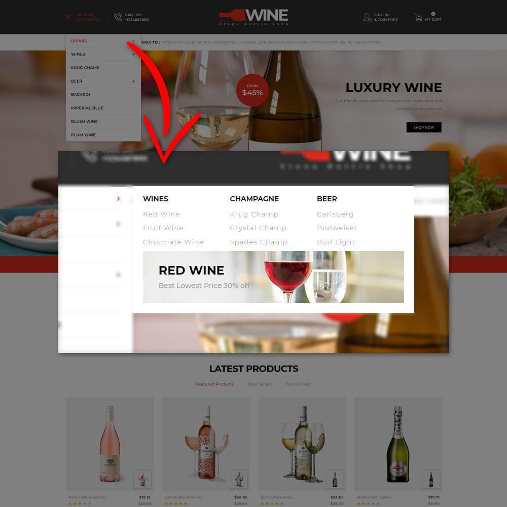 theme - Getränke & Tabak - Winestone - Liquor Shop - 9