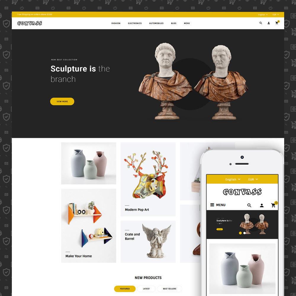 theme - Art & Culture - Convass - Art & Crafts Store - 1