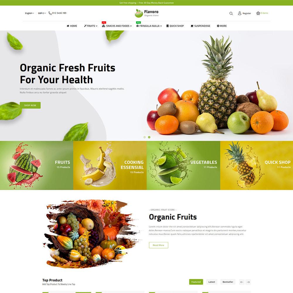 theme - Eten & Restaurant - Flavoro - Fresh Organic Food Delivery Store - 2