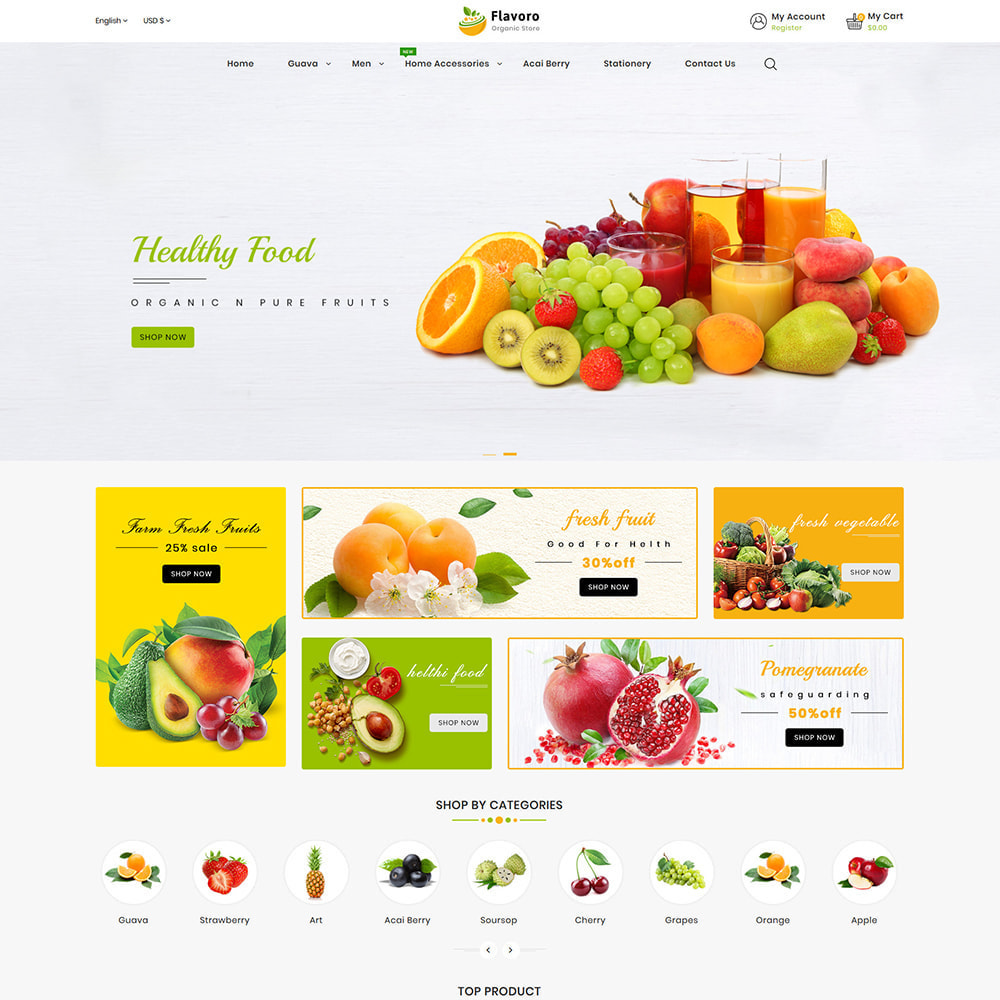 theme - Eten & Restaurant - Flavoro - Fresh Organic Food Delivery Store - 3