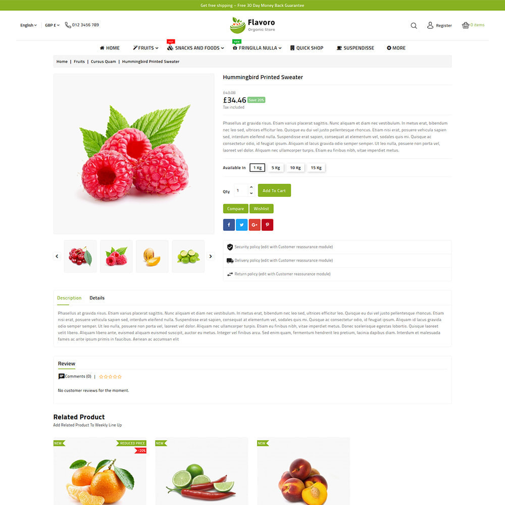 theme - Eten & Restaurant - Flavoro - Fresh Organic Food Delivery Store - 8