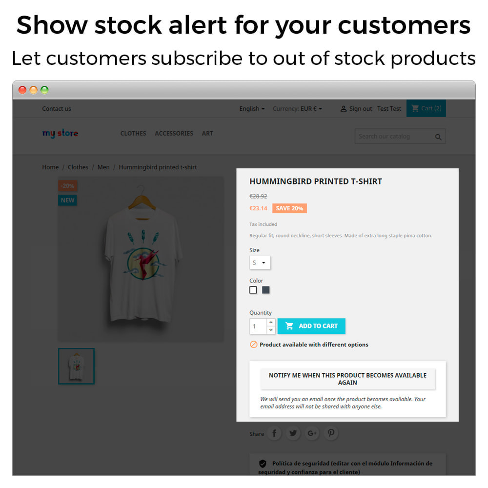 module - Notifications & Automatic Emails - Out of Stock Notifications - Back In Stock Alerts - 2