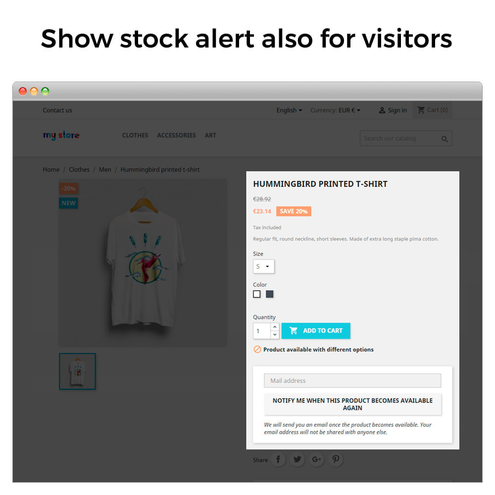 module - Notifications & Automatic Emails - Out of Stock Notifications - Back In Stock Alerts - 3