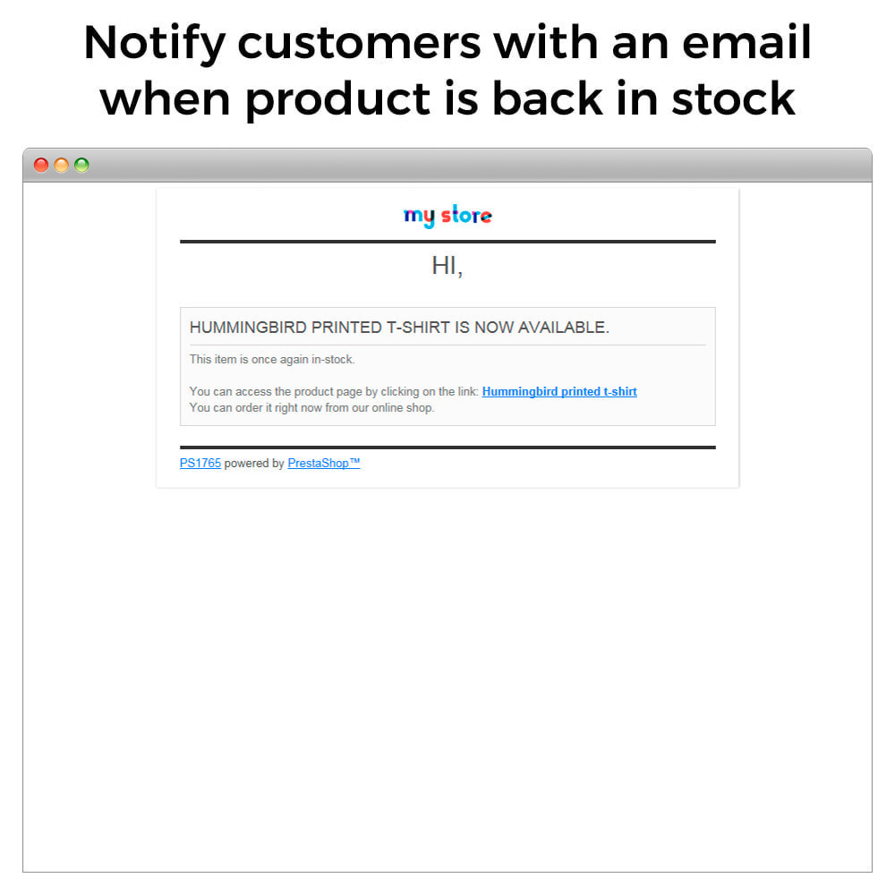 module - Notifications & Automatic Emails - Out of Stock Notifications - Back In Stock Alerts - 6