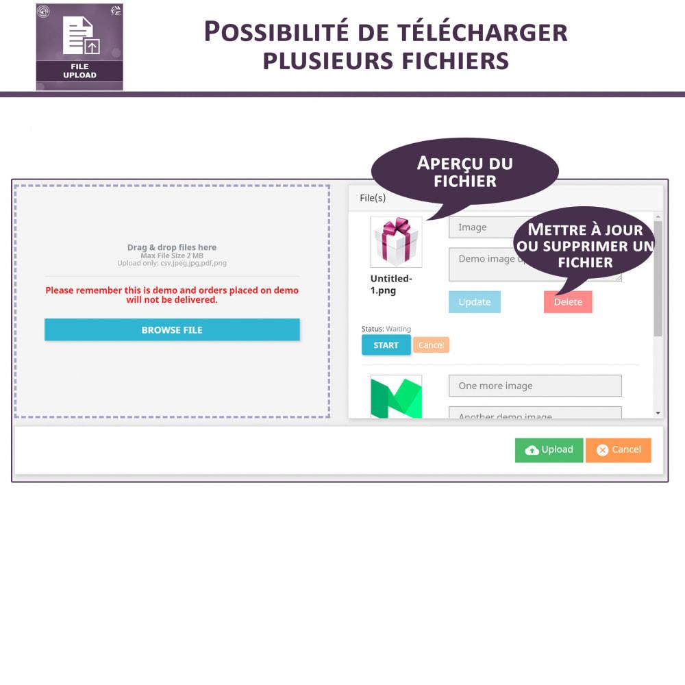 module - Information supplémentaire & Onglet produit - Téléchargement de fichiers par le client - 3