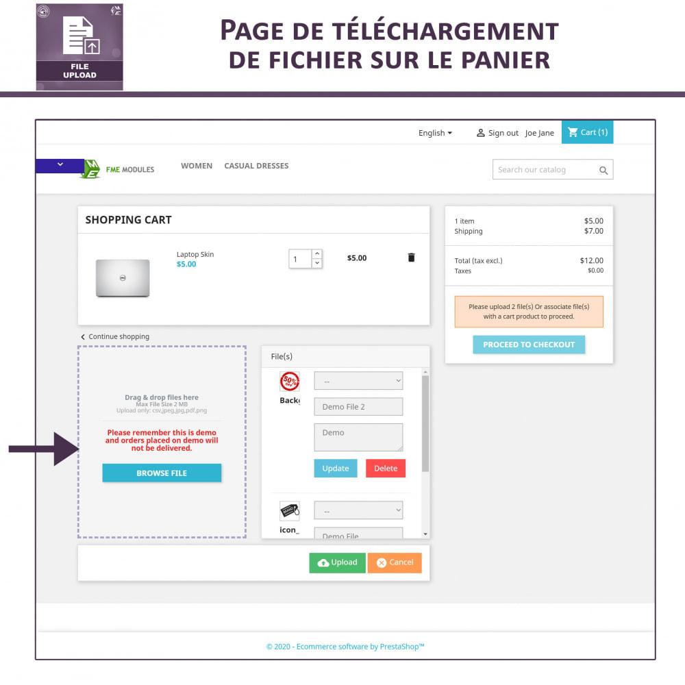 module - Information supplémentaire & Onglet produit - Téléchargement de fichiers par le client - 4