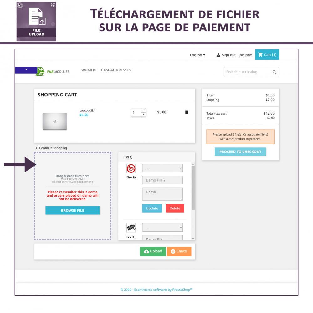 module - Information supplémentaire & Onglet produit - Téléchargement de fichiers par le client - 5