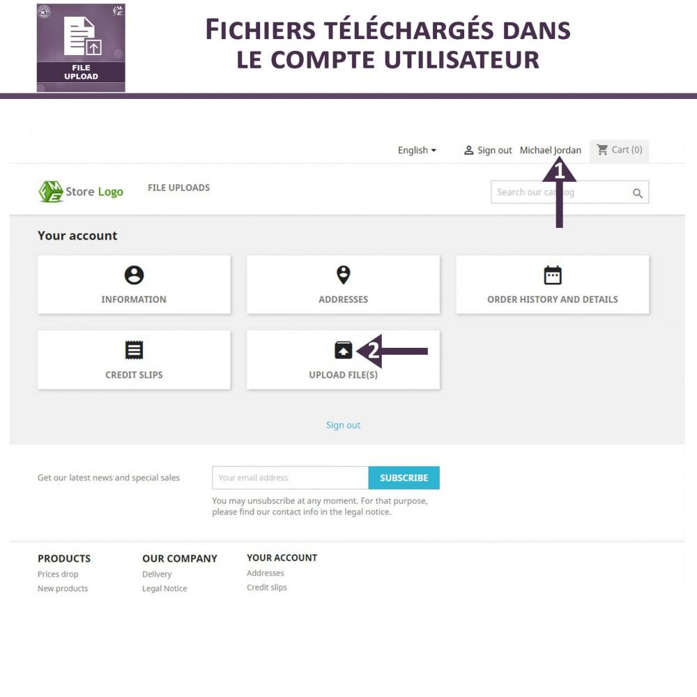 module - Information supplémentaire & Onglet produit - Téléchargement de fichiers par le client - 6