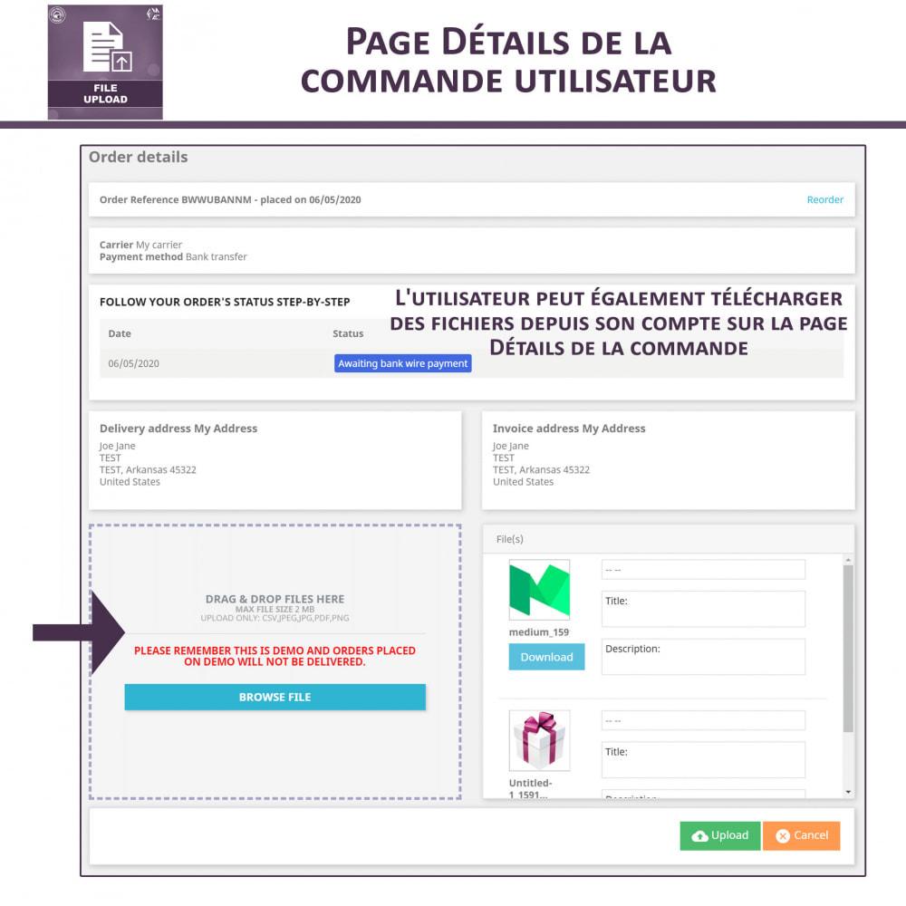 module - Information supplémentaire & Onglet produit - Téléchargement de fichiers par le client - 7