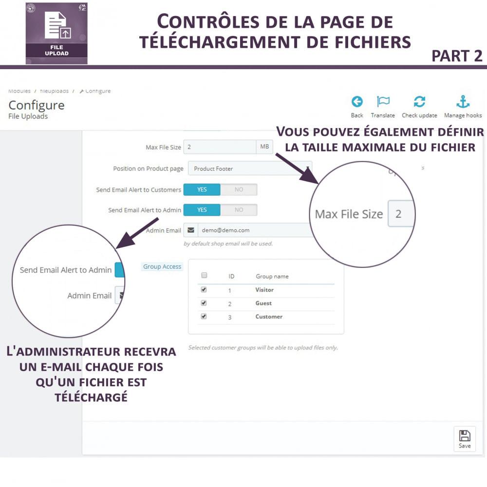 module - Information supplémentaire & Onglet produit - Téléchargement de fichiers par le client - 9