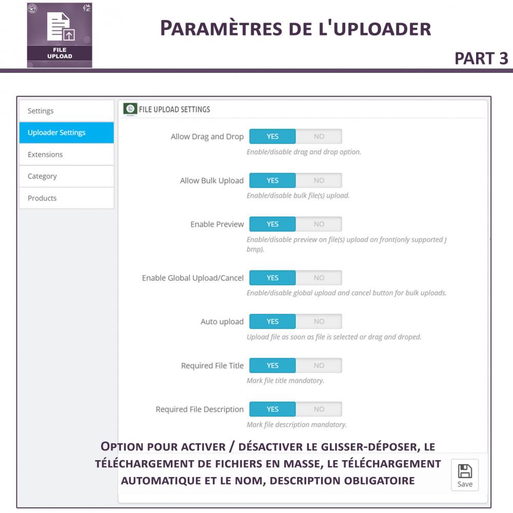 module - Information supplémentaire & Onglet produit - Téléchargement de fichiers par le client - 10