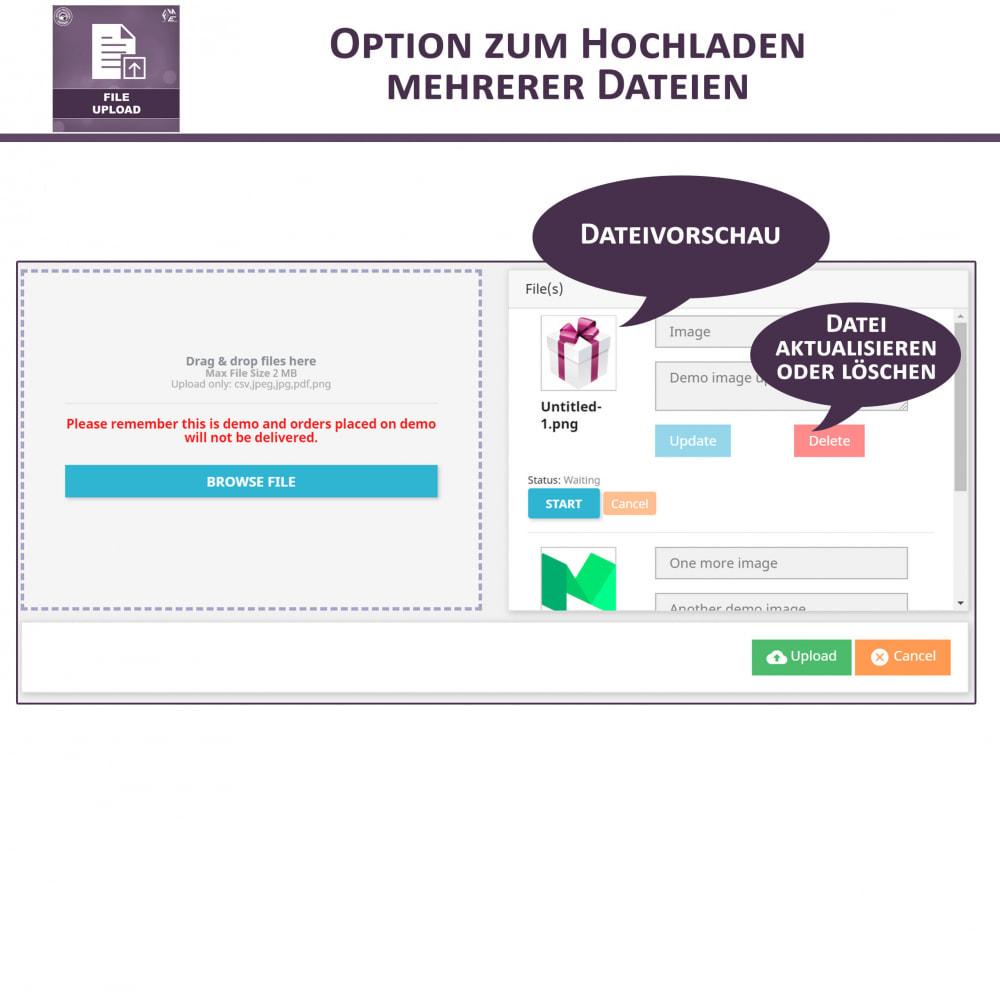 module - Zusatzinformationen & Produkt-Tabs - Datei-Upload durch den Kunden - 3
