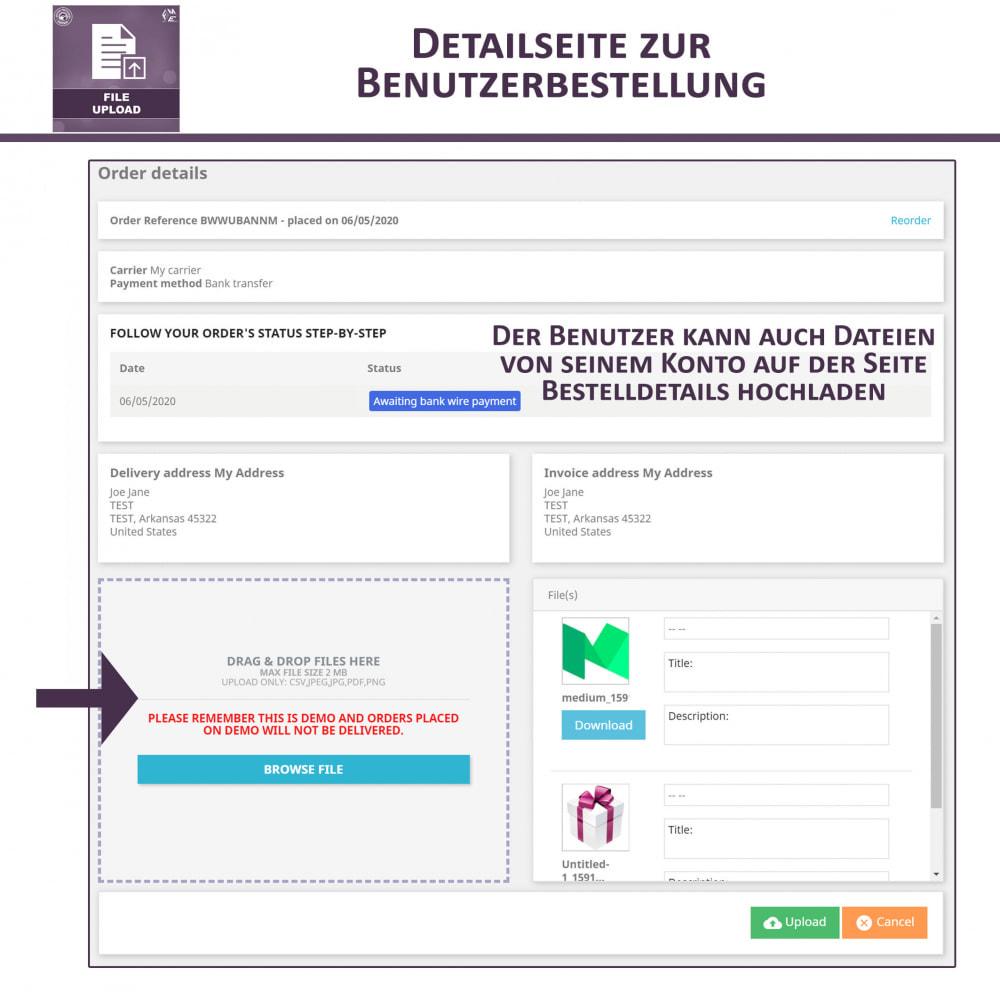 module - Zusatzinformationen & Produkt-Tabs - Datei-Upload durch den Kunden - 7