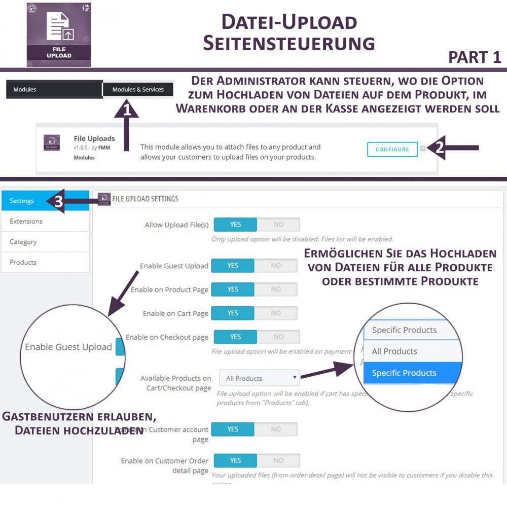 module - Zusatzinformationen & Produkt-Tabs - Datei-Upload durch den Kunden - 8