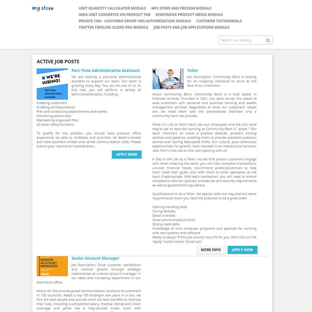 module - Formulaires de Contact & Sondages - Postes et demandes d'emploi - 1