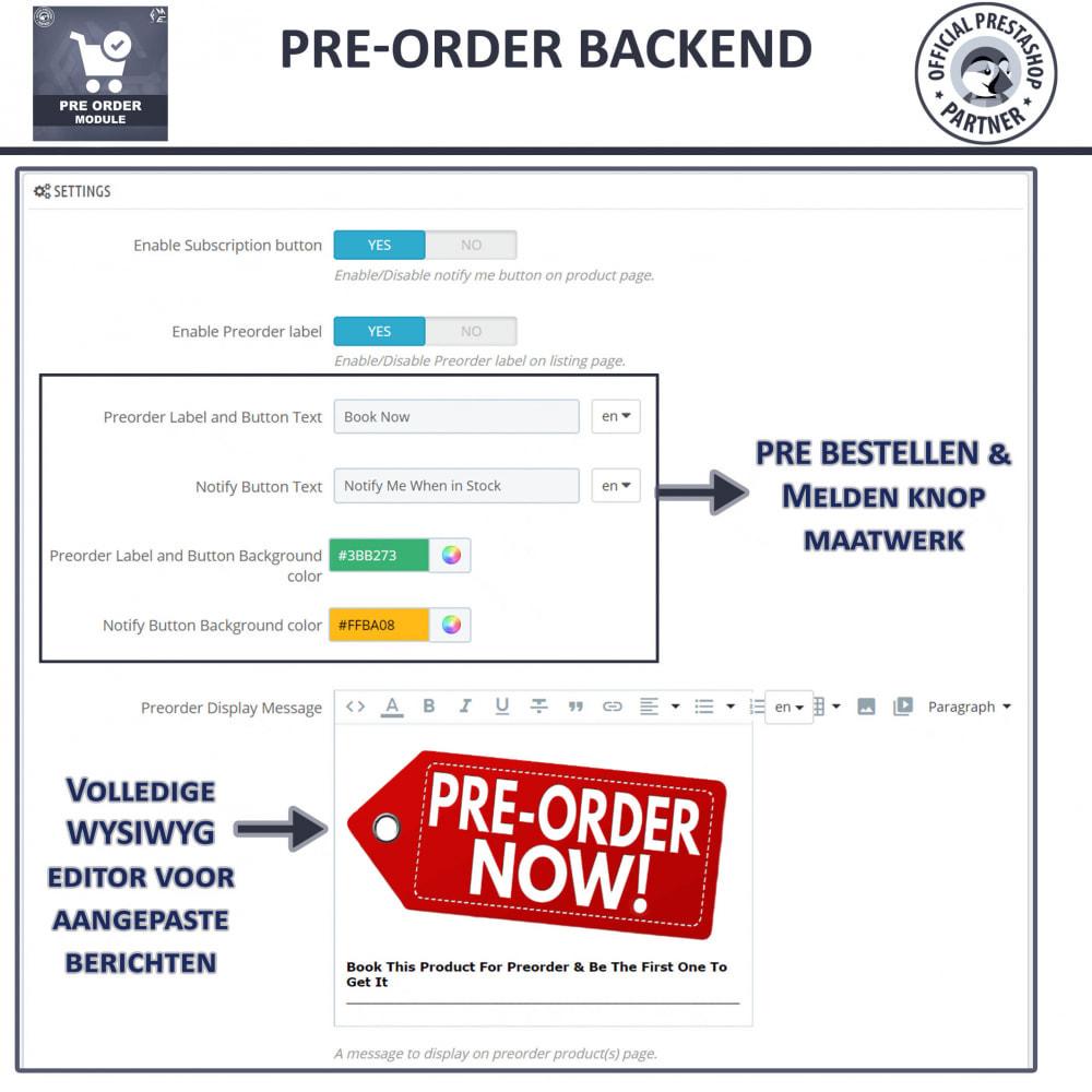 module - Registratie en Proces van bestellingen - Pre-Order - Advance Booking | Out of Stock Selling - 14