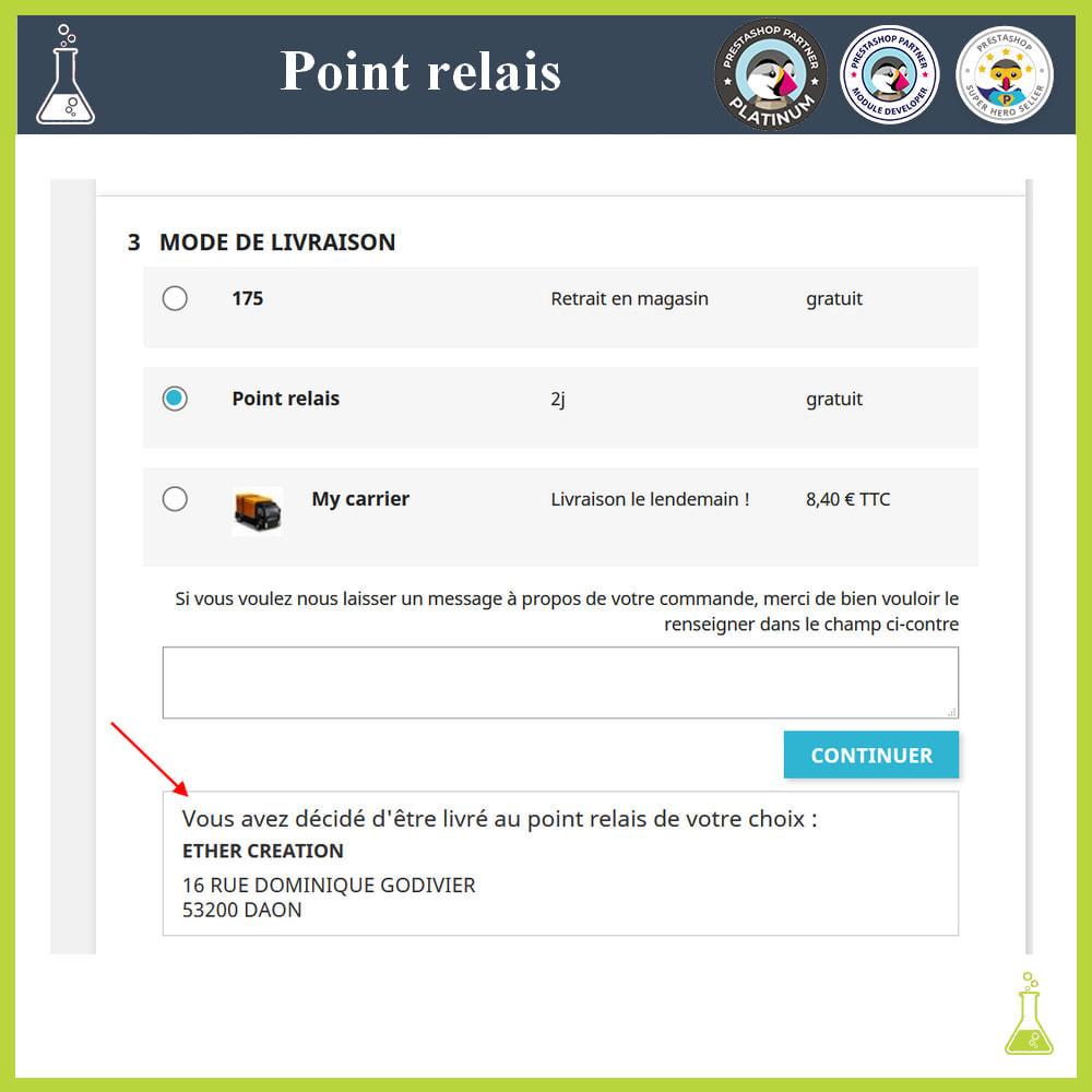 module - Point Relais & Retrait en Magasin - Gérer vos points relais - 6