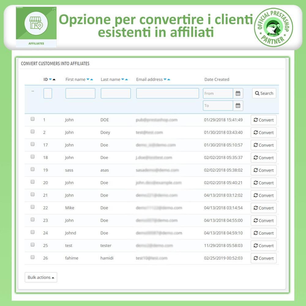 module - Indicizzazione a pagamento (SEA SEM) & Affiliazione - Affiliati e programma referral - 25