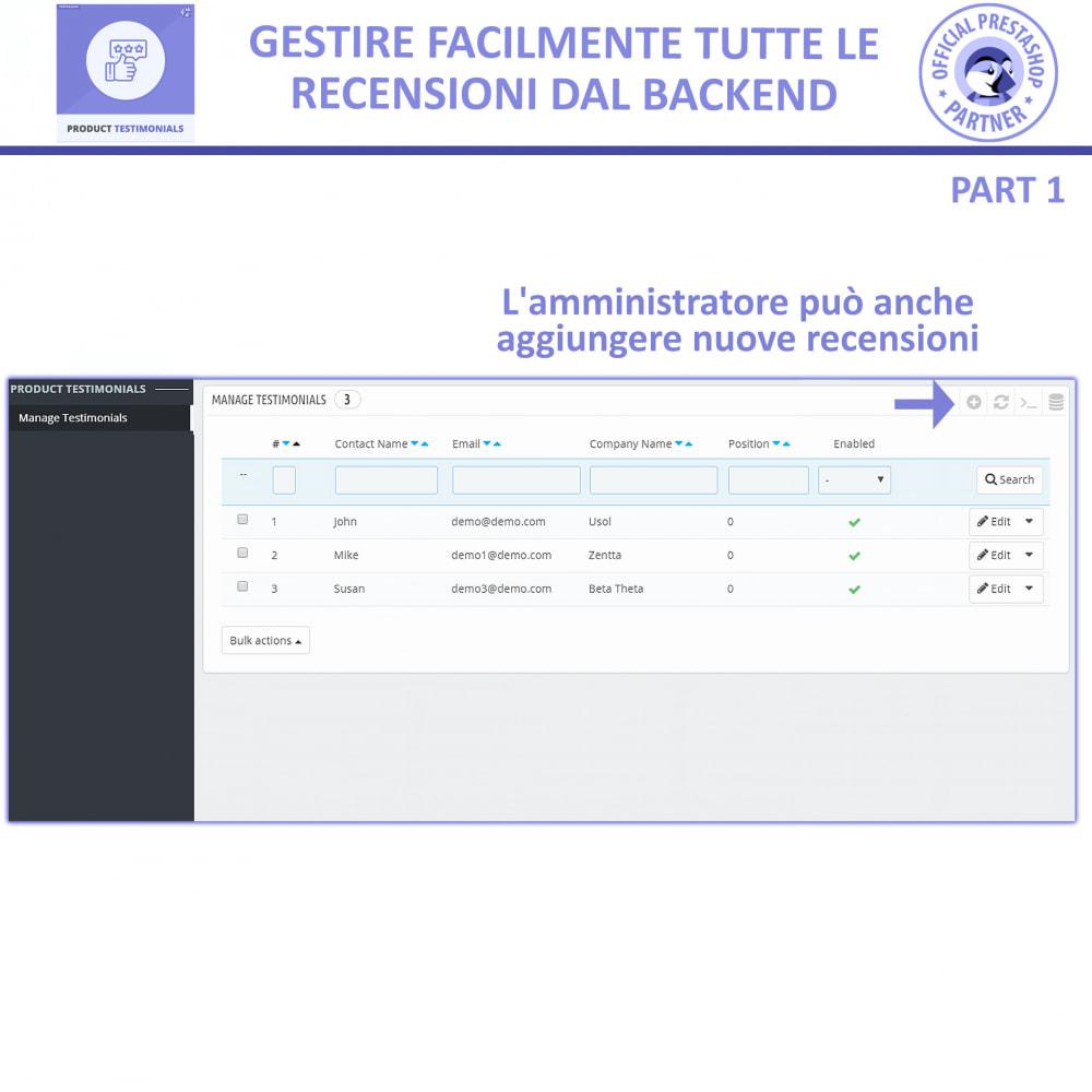 module - Recensioni clienti - Recensioni di Prodotti Clienti + Recensioni di Negozio - 7