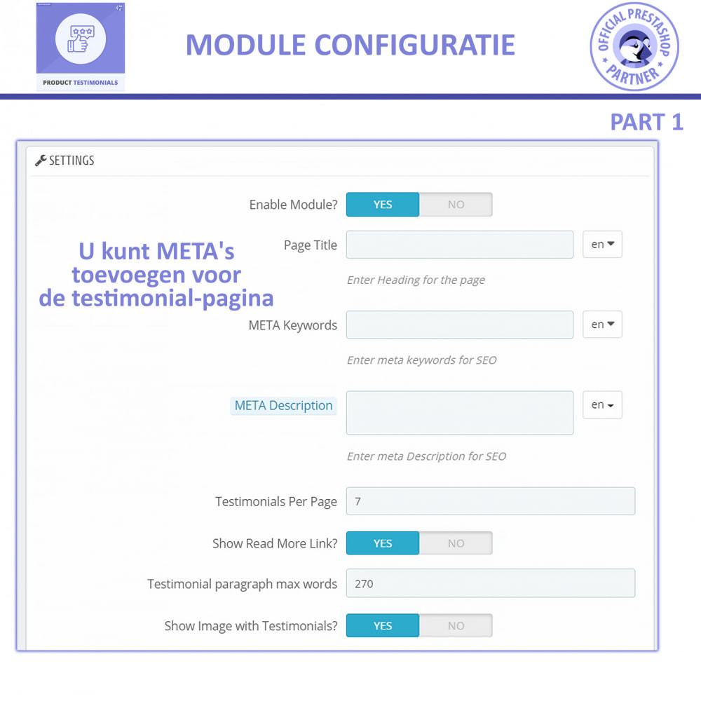 module - Klantbeoordelingen - Klant Productbeoordelingen + Getuigenissen van Winkels - 8