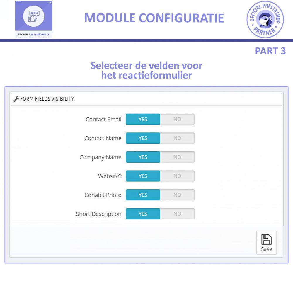module - Klantbeoordelingen - Klant Productbeoordelingen + Getuigenissen van Winkels - 10